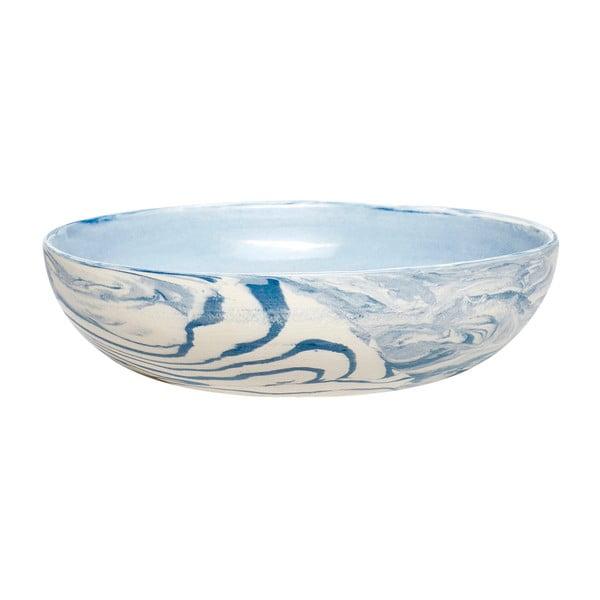 Bol Hübsch Marble, ø 13 cm, alb - albastru