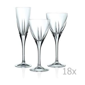 Sada 18 sklenic RCR Cristalleria Italiana Gorizia
