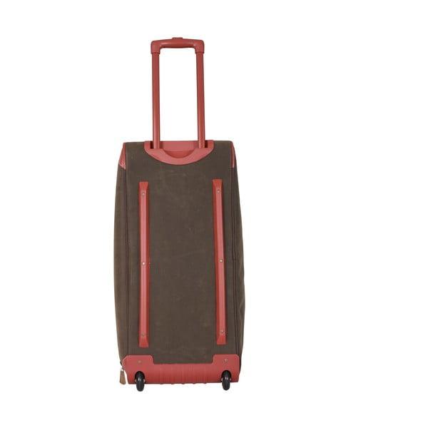 Cestovní taška na kolečkách Jean Louis Scherrer Khaki, 60 l