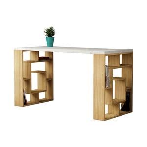 Pracovní stůl Labyrint, bílá deska
