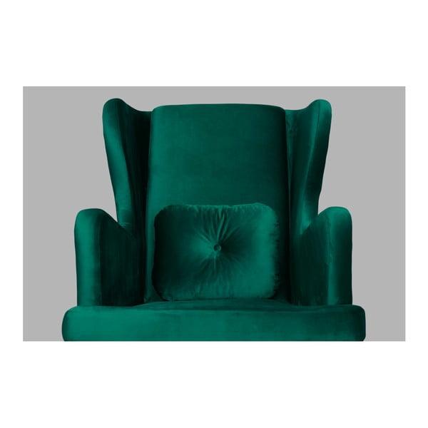 Tmavě zelené křeslo ušák SKANDICA Ingrid Green