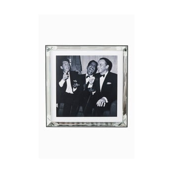 Tablou alb-negru Kare Design Rat Pack, 60 x 60 cm