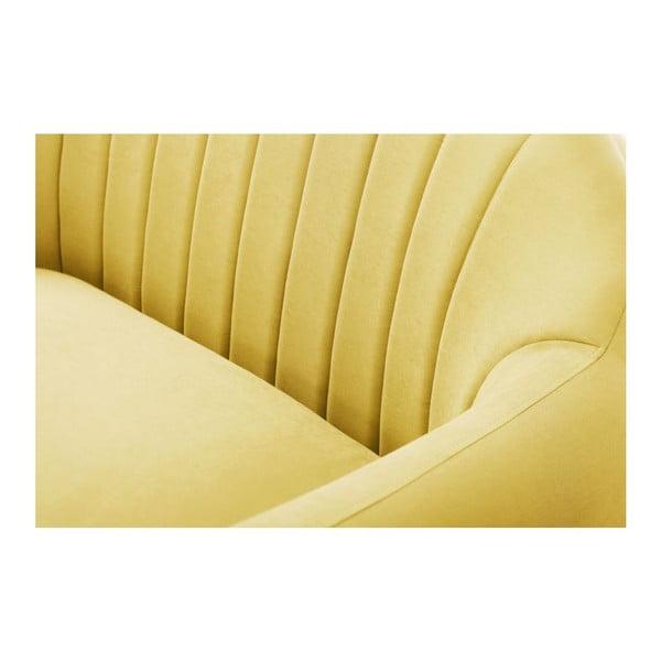 Canapea pentru 3 persoane Scandi by Stella Cadente Maison Comete, galben
