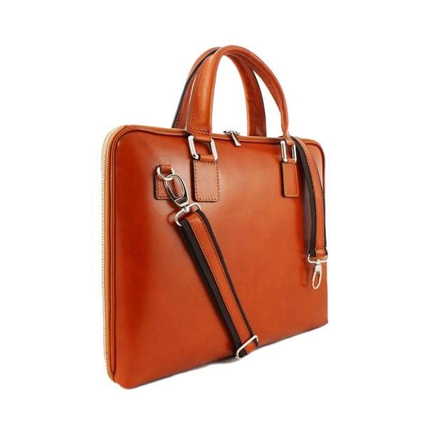 Kožená unisex taška Manola Cognac