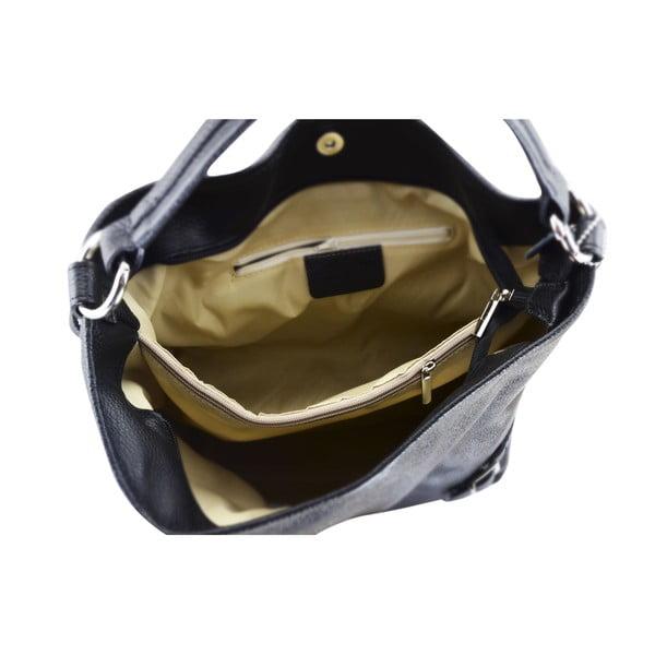 Kožená kabelka Audrey, černá