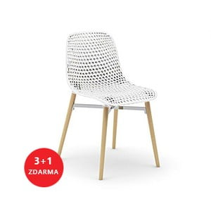 Set židlí Next 3+1 zdarma, bílá
