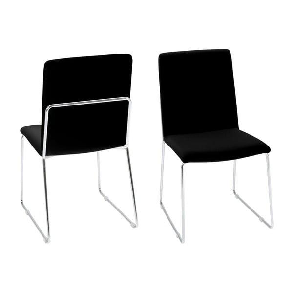 Czarne krzesło Actona Kitos