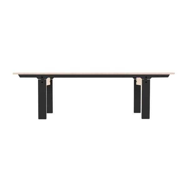 Černá lavice na sezení rform Slim 04, délka 165 cm
