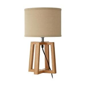Stolní lampa se základnou z gumovníkového dřeva Premier Housewares Lea