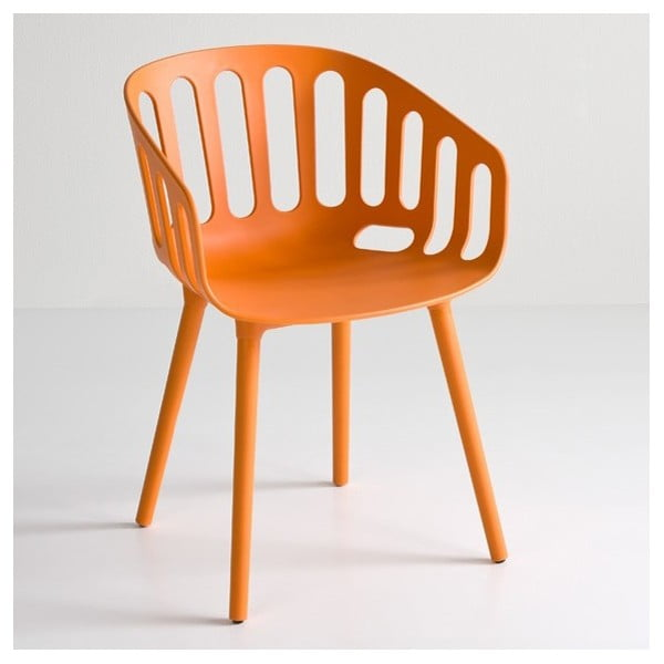 Oranžová židle Basket