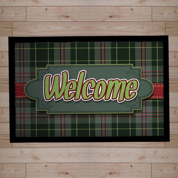 Rohožka Welcome, light green, 40x60 cm
