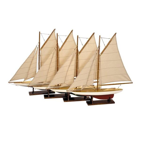 Set 4 ks modelů lodí Yachts