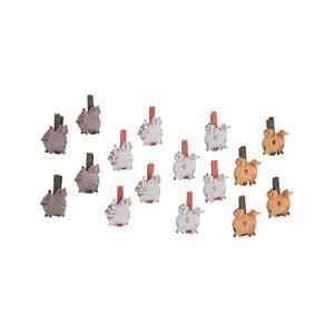 Sada 16 dekorativních kolíčků Ego Dekor Cats