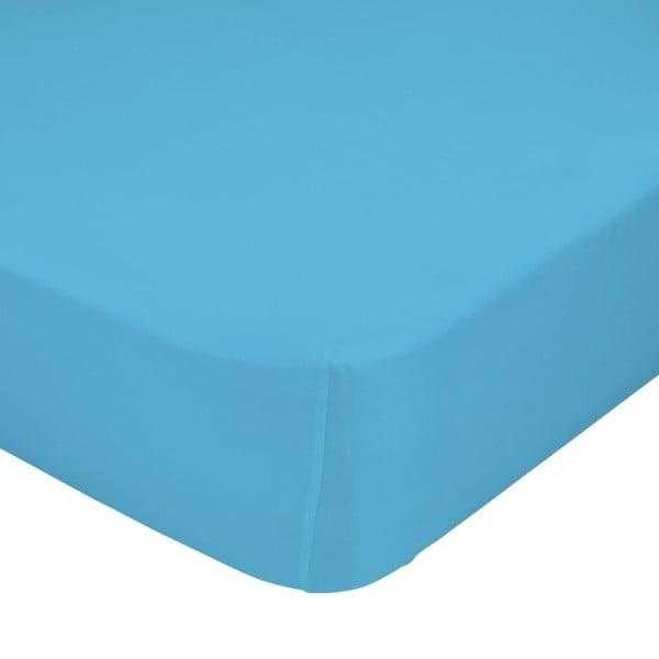 Tyrkysové elastické prostěradlo HF Living Basic, 90x200cm