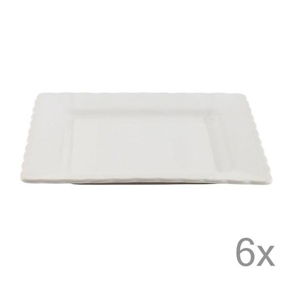Sada 6 talířů White Dinner