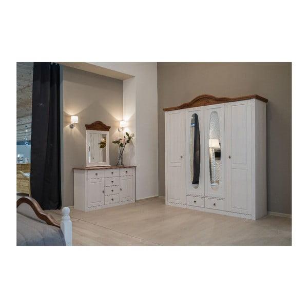 Šatní skříň Mmi White, 210x60x232 cm