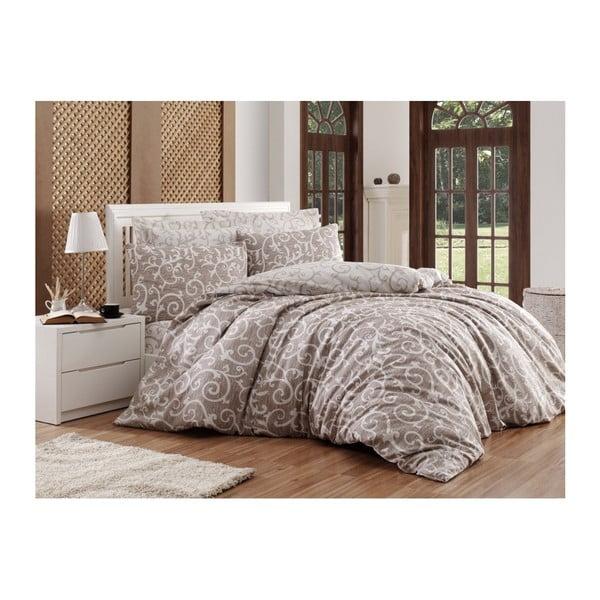 Lenjerie de pat cu cearșaf Permento Rakisha, 200 x 220 cm