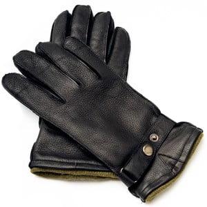 Pánské černé kožené rukavice <br>Pride & Dignity Logan, vel. XL