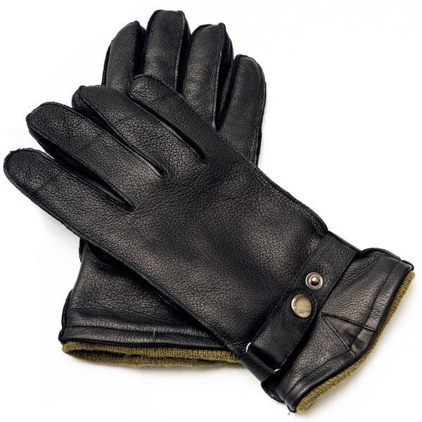 Mănuși din piele pentru bărbați Pride & Dignity Logan, dimensiune L, negru