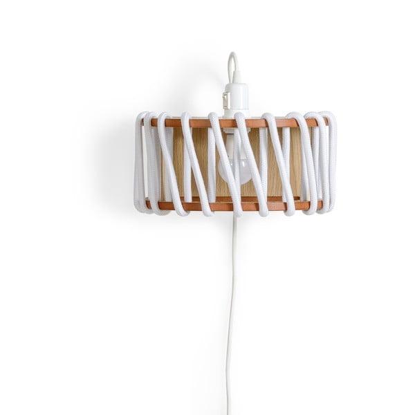Aplică din lemn EMKO Macaron, lungime 30 cm, alb