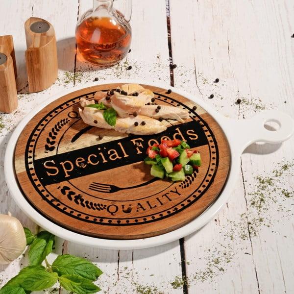 Bambusové servírovací prkénko Round Special