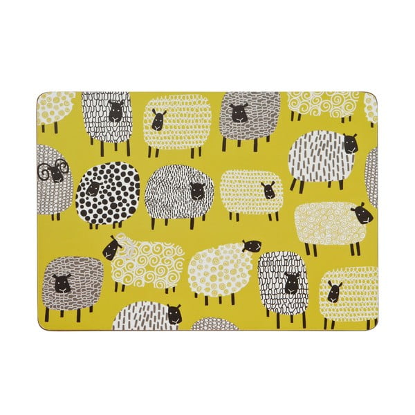 Sada 4 prostírání Dotty Sheep