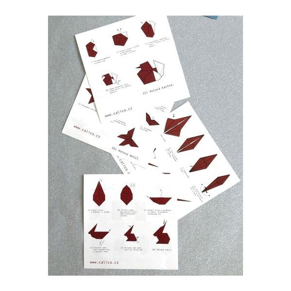 Růžovo-bílé origami papíry Calico