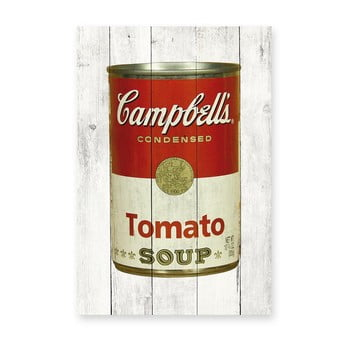 Tablou de perete din lemn de pin Really Nice Things Tomato Soup, 40 x 60 cm de la Really Nice Things