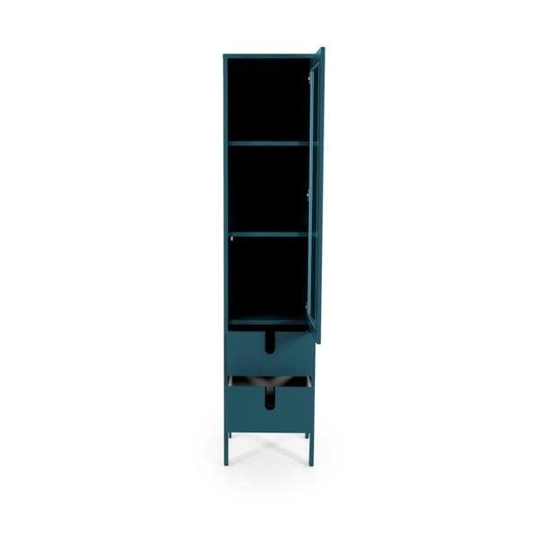 Vitrină Tenzo Uno, lățime 40 cm, albastru petrol