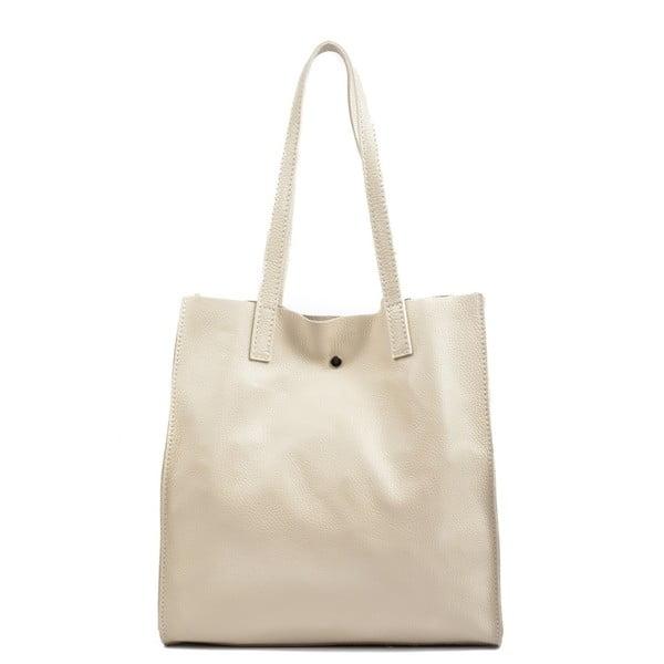 Béžová kožená kabelka Isabella Rhea Leslie