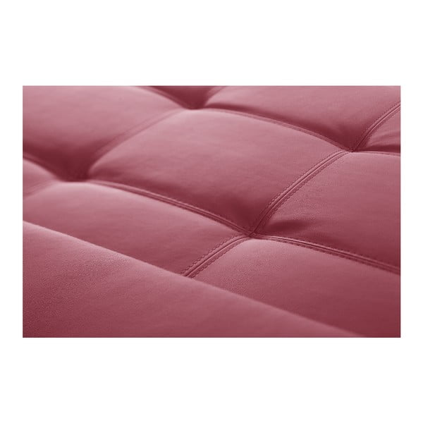 Růžová pohovka Modernist Symbole, pravý roh