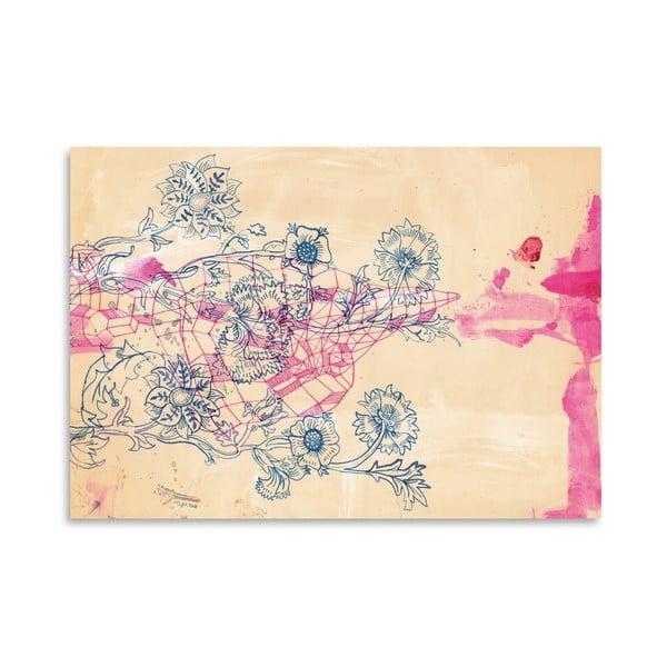 Plakát Pink Ink Study, 30x42 cm