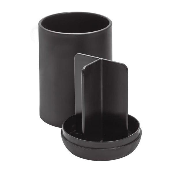 Cade fekete fogkefetartó pohár rekeszekkel - iDesign