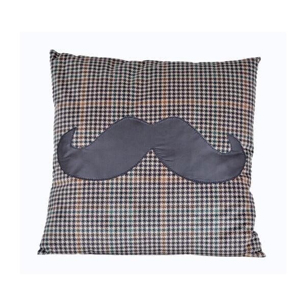 Polštář s výplní Mustache, 45x45 cm
