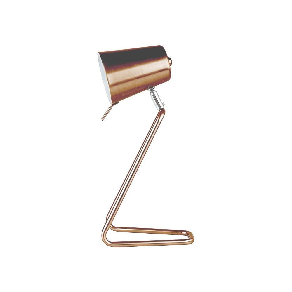 Stolní lampa v měděné barvě Present Time Z Metal