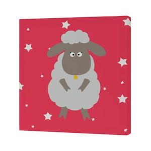 Nástěnný obrázek White Sheep, 27x27 cm