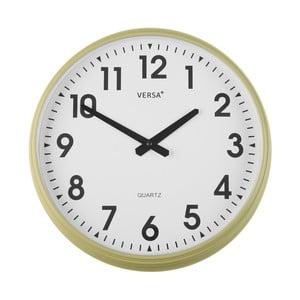 Nástěnné vanilkově žluté kuchyňské hodiny Versa, ⌀37cm