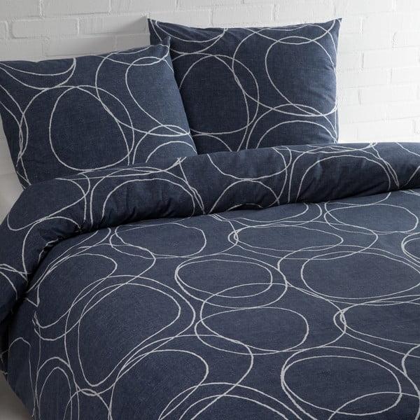 Lenjerie de pat Ekkelboom Pim, albastră, 140 x 240 cm
