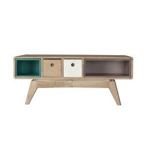 Obdélníkový konferenční stolek z masivního mangového dřeva Woodjam Play Light