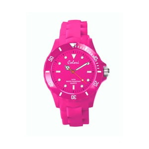 Hodinky Colori 36 White Index Pink