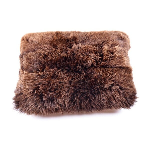 Kožešinový polštář s krátkým chlupem Brown,50x70cm