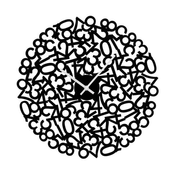 Nástěnné hodiny Black Numbers, 40 cm