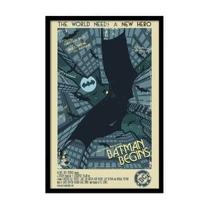 Plakát Batman Begins, 35x30 cm