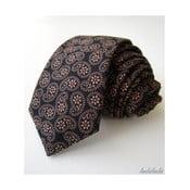 Černá kravata s paisley