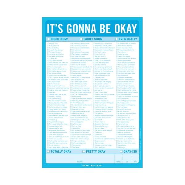 Listy k zapisování vztahů To Be Okay