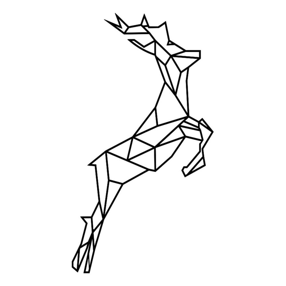 Samolepka Fanastick Origami Reindeer