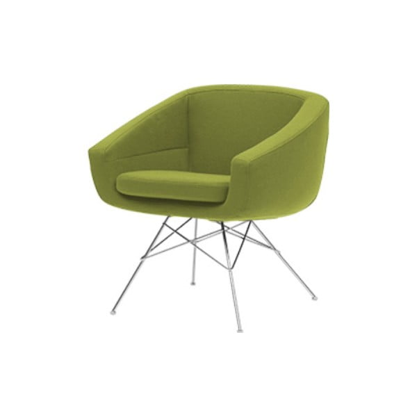 Zielony fotel Softline Aiko Felt Melange Lime