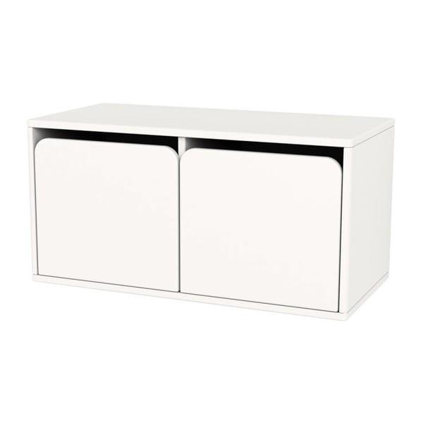 Bílá dětská úložná lavice Flexa Shelfie Double