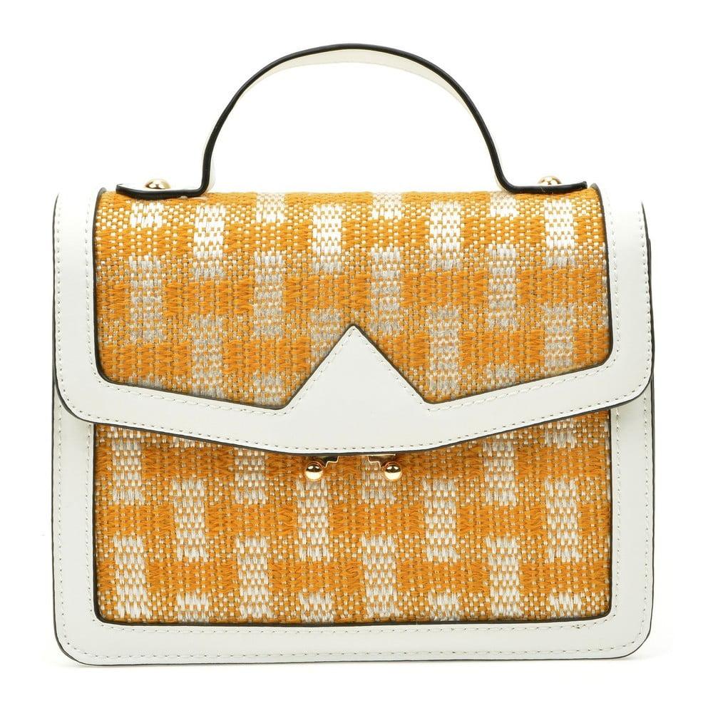 Oranžovo-bílá kabelka Anna Luchini