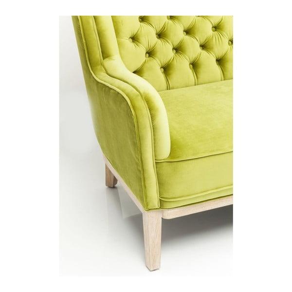 Canapea 2 locuri Kare Design Coffee, verde lămâie